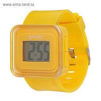 Часы наручные электронные, ремешок силикон, циферблат квадратный 1.5х2.5 см  микс