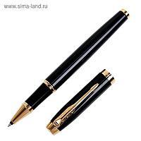 Ручка роллер Parker IM Core Black GT F, корпус пластиковый чёрный/глянцевый/золотой, чёрные чернила (1931659)