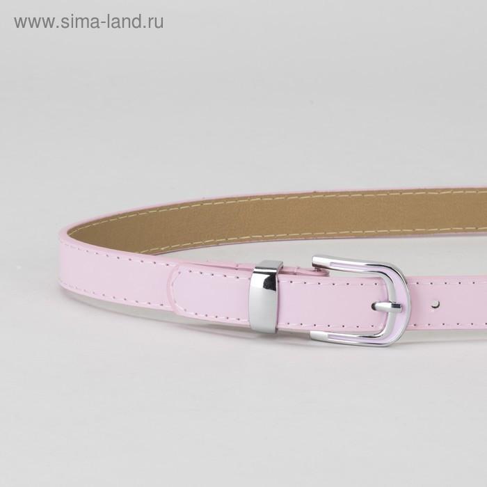 Ремень, гладкий, пряжка и хомут металл, ширина - 2,2 см, цвет розовый - фото 2
