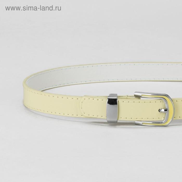 Ремень, гладкий, пряжка и хомут металл, ширина - 2,2 см, цвет жёлтый - фото 2