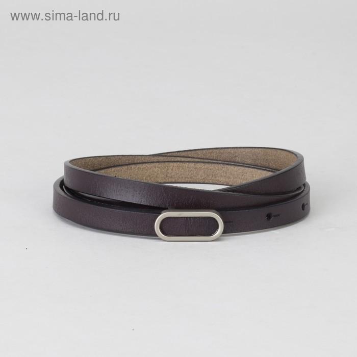 Ремень женский, гладкий, пряжка матовый металл, ширина - 1 см, цвет фиолетовый - фото 1