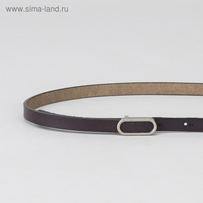 Ремень женский, гладкий, пряжка матовый металл, ширина - 1 см, цвет фиолетовый - фото 2