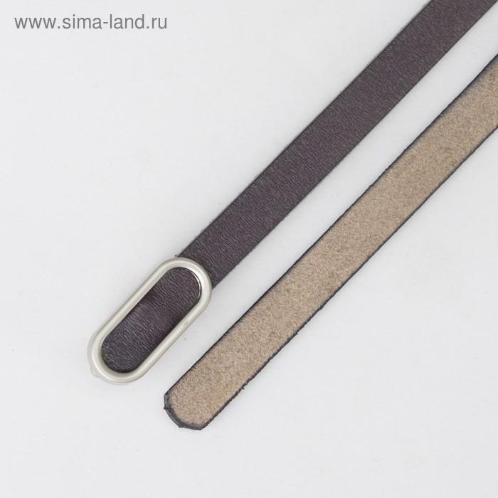 Ремень женский, гладкий, пряжка матовый металл, ширина - 1 см, цвет фиолетовый - фото 3