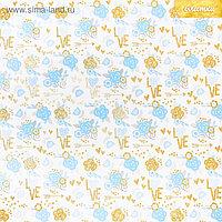 Бумага для скрапбукинга с блёстками «Цветочные мечты», 30,5 х 30,5см, 180 г/м
