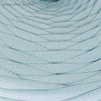 Пряжа трикотажная широкая 50м/160гр, ширина нити 7-9 мм (бл. голубой) МИКС