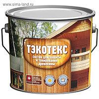 Состав ТЭКОТЕКС для защиты и тонирования древесины махагон, ведро 7,6 кг