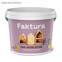 Лак-антисептик FAKTURA палисандр, ведро 0,9 л