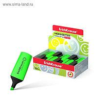 Маркер текстовыделитель 0.6-5.2 мм Erich Krause Visioline Mini зелёный, флуоресцентные чернила на водной