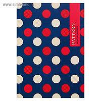 Записная книжка А5, 80 листов «Круги на синем фоне», твёрдая обложка, глянцевая ламинация
