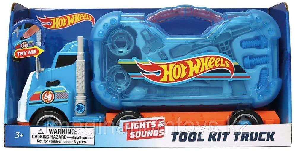 Hot Wheels Автовоз с инструментами, звуком и подсветкой новинка