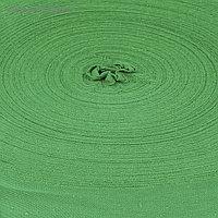 "Пряжа трикотаж. ""Ролик"" 85м/320±15гр, ширина нити 30 мм (зелёный)"