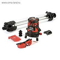 Уровень лазерный KAPRO 875, 4 вертикали, 1 горизонталь, тренога, очки