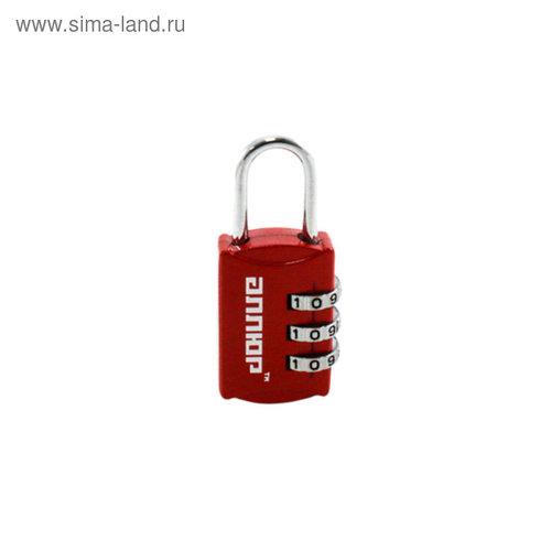 """Замок навесной """"АЛЛЮР"""" ВС1К-22/3 (HA816), кодовый, d=3 мм, красный"""