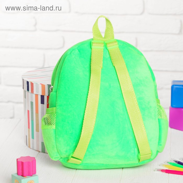 Рюкзак с рисунком под роспись «Мишка» + фломастеры 5 цветов, цвета МИКС - фото 3