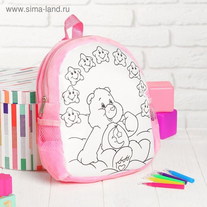 Рюкзак с рисунком под роспись «Мишка» + фломастеры 5 цветов, цвета МИКС - фото 7