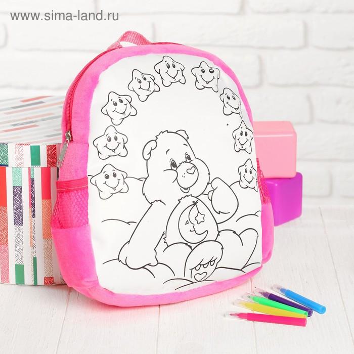 Рюкзак с рисунком под роспись «Мишка» + фломастеры 5 цветов, цвета МИКС - фото 8