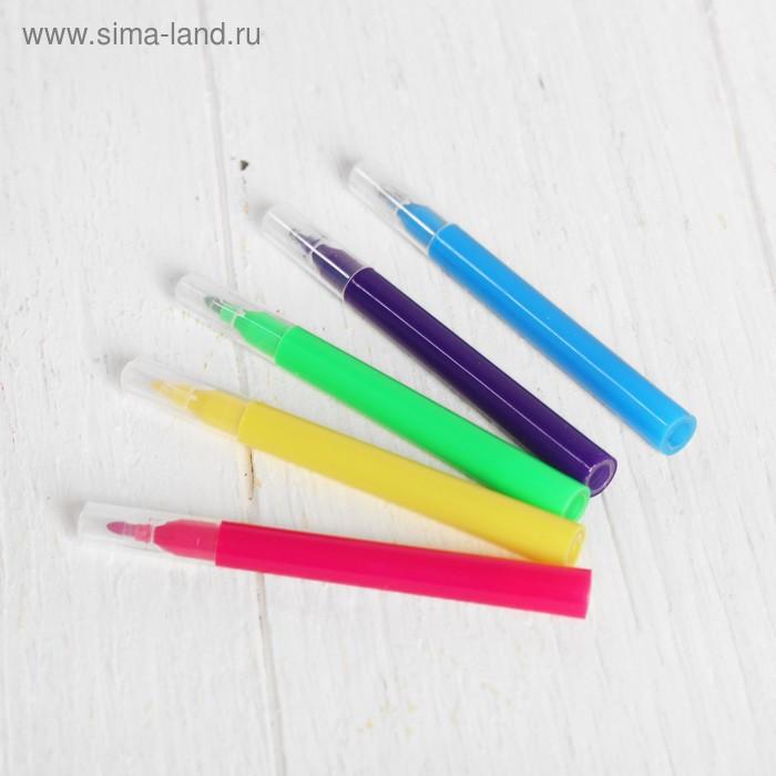 Рюкзак с рисунком под роспись «Девочка» + фломастеры 5 цветов, цвета МИКС - фото 3