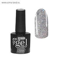 Гель-лак для ногтей, 216-214-45, однофазный, LED/UV, 10мл, цвет 216-214-45 прозрачный с блёстками