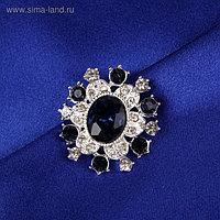 Пуговица декоративная, 22 × 20 мм, цвет синий