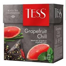 Чай черный TESS Grapefruit Chill в пирамидках (20 х 1,8г)