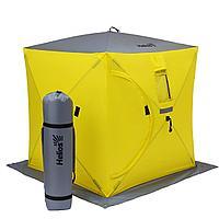 Палатка зимняя Куб 1,5х1,5 yellow/gray Helios (HS-ISC-150YG) tr-85082