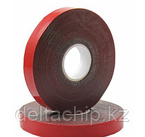09-6009  Скотч двусторонний красный 9mm 5m  REXANT