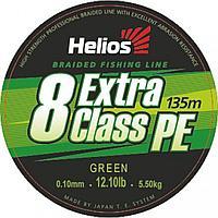 Шнур плетеный Helios EXTRA CLASS 8 PE BRAID Green 0,10mm/135 (HS-8PEG-10/135 G) tr-153230