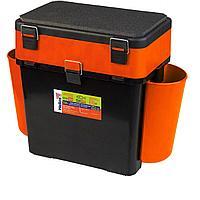 """Ящик рыболовный зимний """"fishbox"""" (19л) оранжевый helios tr-156315"""