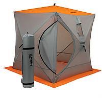 Палатка зимняя Куб 1,8х1,8 orange lumi/gray Helios (HS-ISC-180OLG) tr-186986