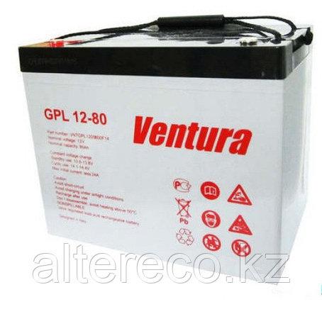 Аккумулятор для лодочного мотора Ventura GPL 12-80 (12В, 80Ач), фото 2