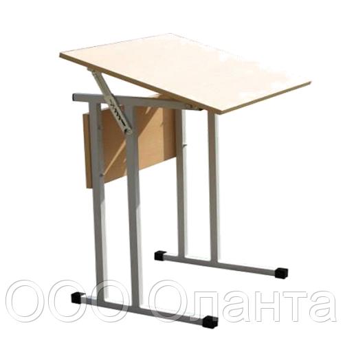 Стол ученический одноместный с регулируемым углом наклона столешницы арт. УС-1р