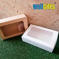 Подарочная картонная коробка 32х22х8 см Бурый