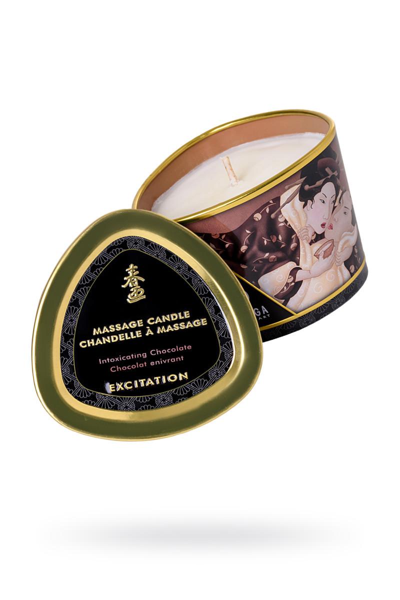 Массажное аромамасло-свеча Shunga, с ароматом пьянящий шоколад, 170 мл - фото 1