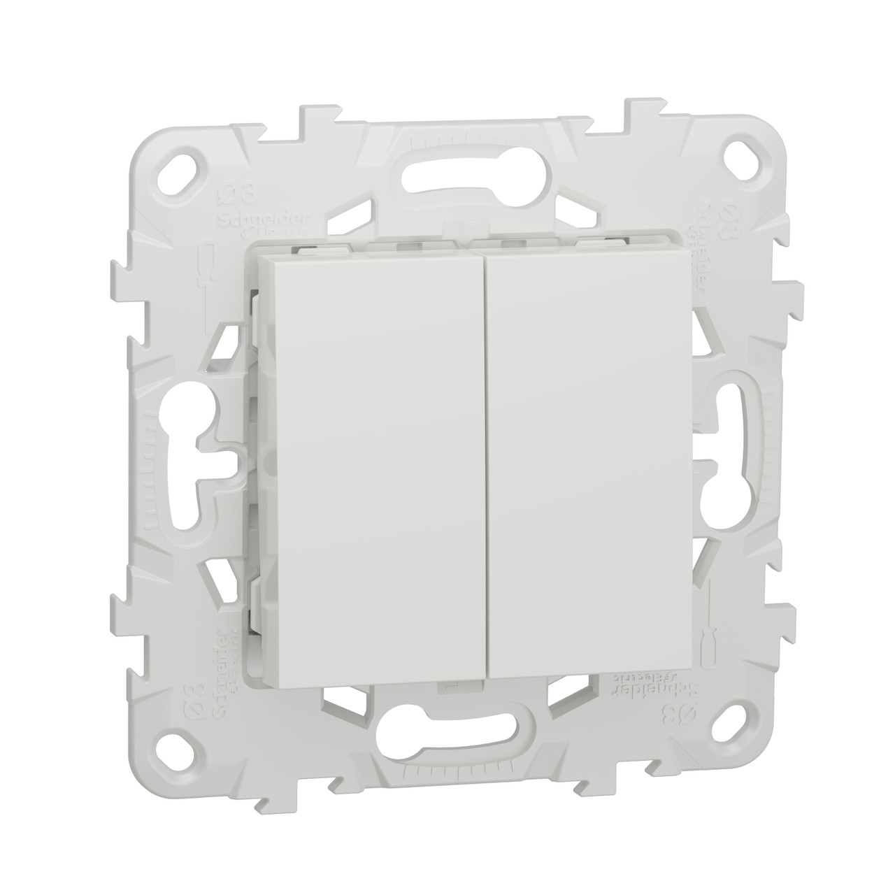 UN выключатель 2-клавишный, белый /NU521118/