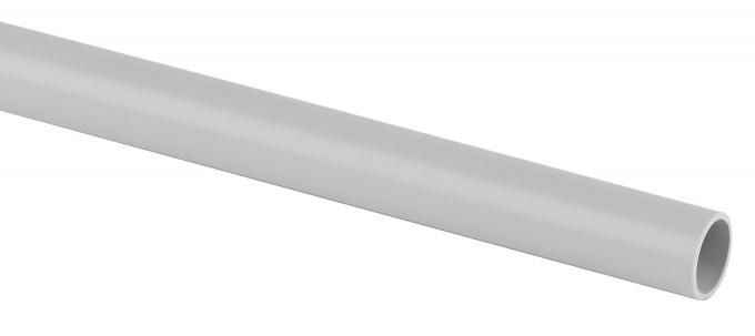 Труба жест. 20мм (3м) серая (75М)