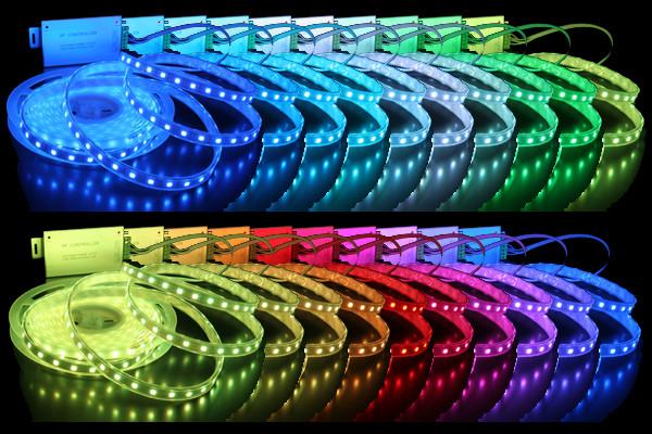 Лента светодиодная 5050 60 SMD IP65 RGB