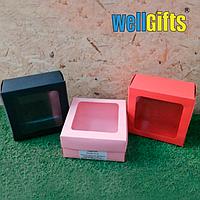 Подарочная картонная коробка 20Х20Х10 см Красный