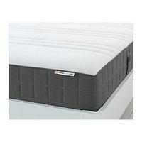 Матрас с пружинами карманного типа, ХОВОГ,  очень жесткий, темно-серый180x200 см ИКЕА, IKEA, фото 1