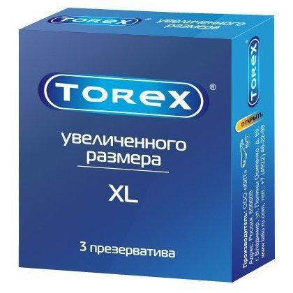 Презервативы «Torex» Увеличенного размера, 3 шт
