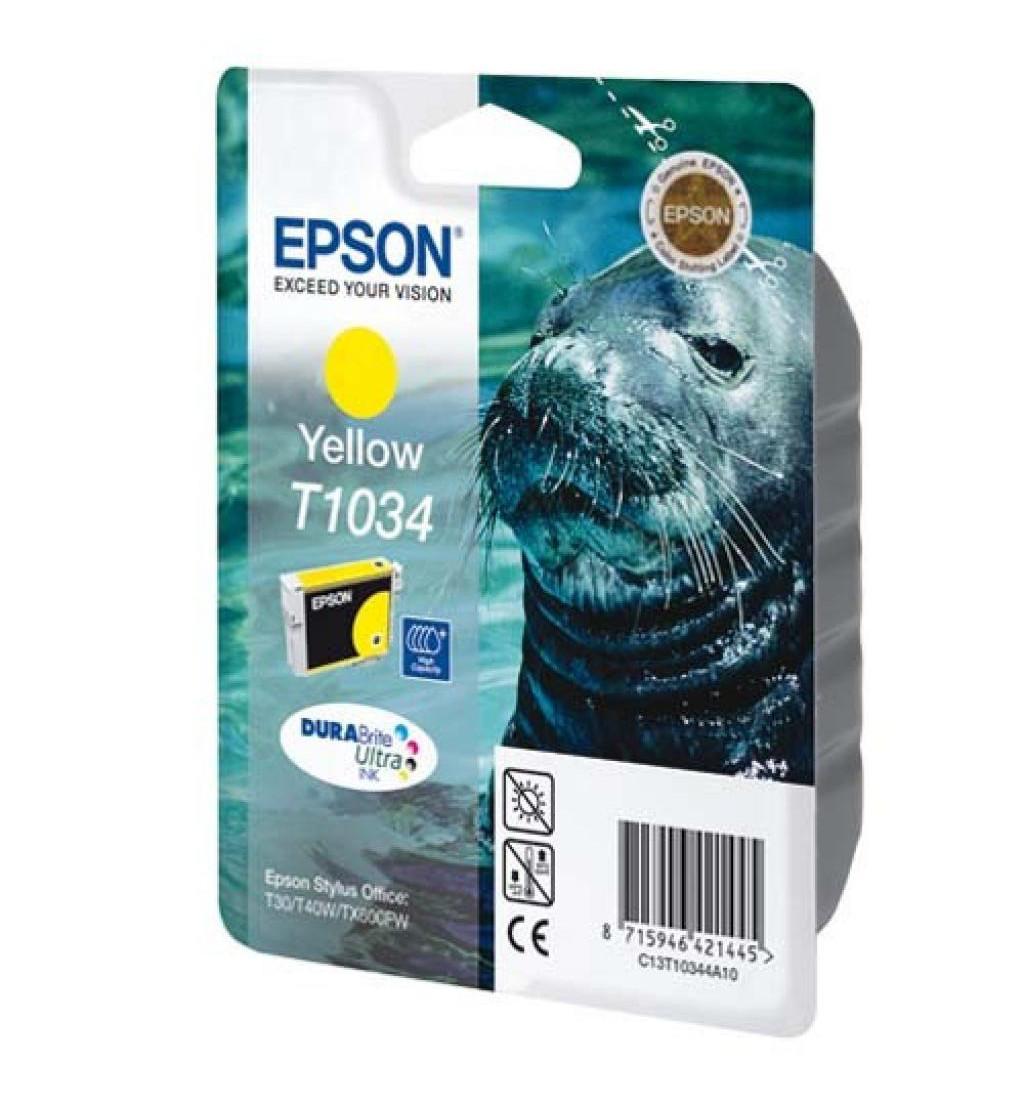Картридж Epson C13T10344A10 TX550W/T40W/TX600FW/T1100 желтый
