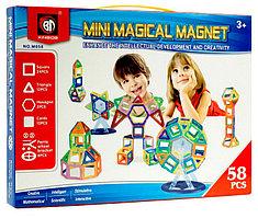 Магнитный конструктор Mini Magical Magnet 3D, 58 деталей