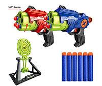 Бластер Manual Air Blaster Toys Gun With Practice Target Plate Shoot Game EVA Soft Bullet Gun, фото 1