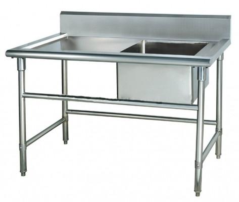 Ванна моечная, 1-Секционная со столом 118х60х80хГ40см