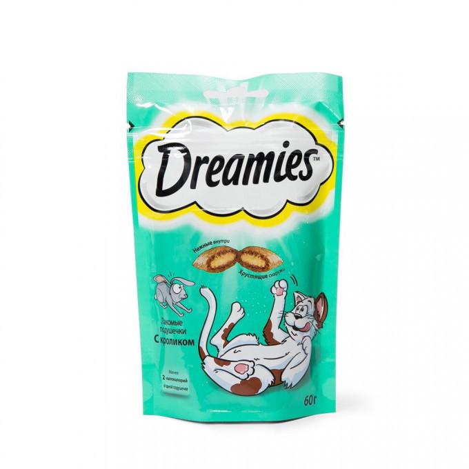 Dreamies Лакомые подушечки для кошек Кролик