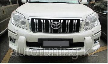 Накладка переднего бампера (губа бампера) на Land Cruiser Prado 150 2009-2013 (дорестайлинг)
