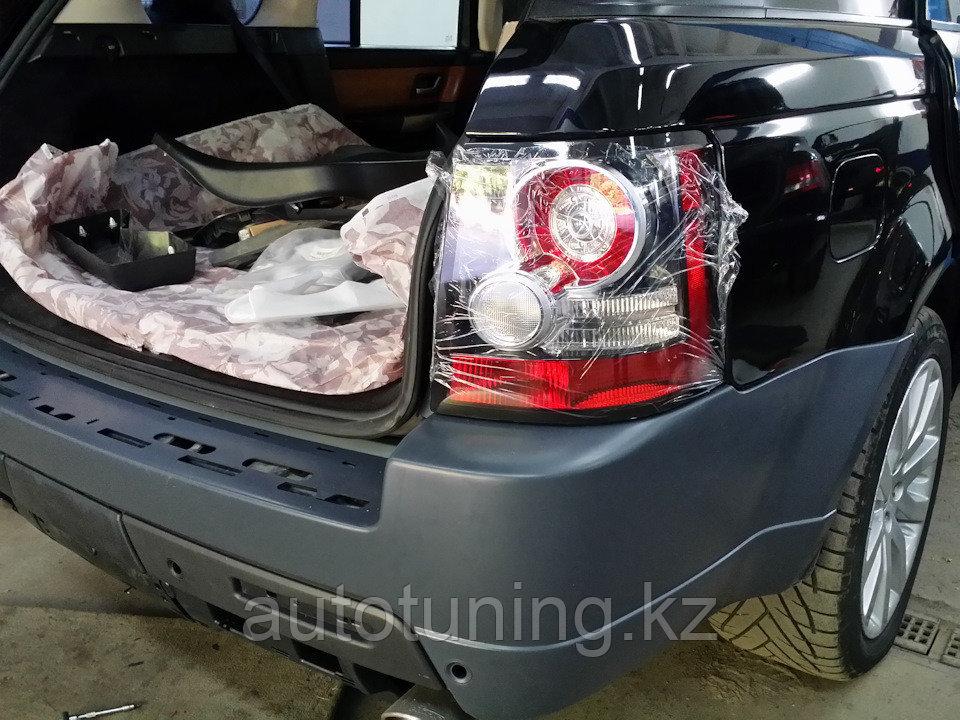 Рестайлинговые задние фонари (задние фары) на Range Rover sport L320 2005-2013