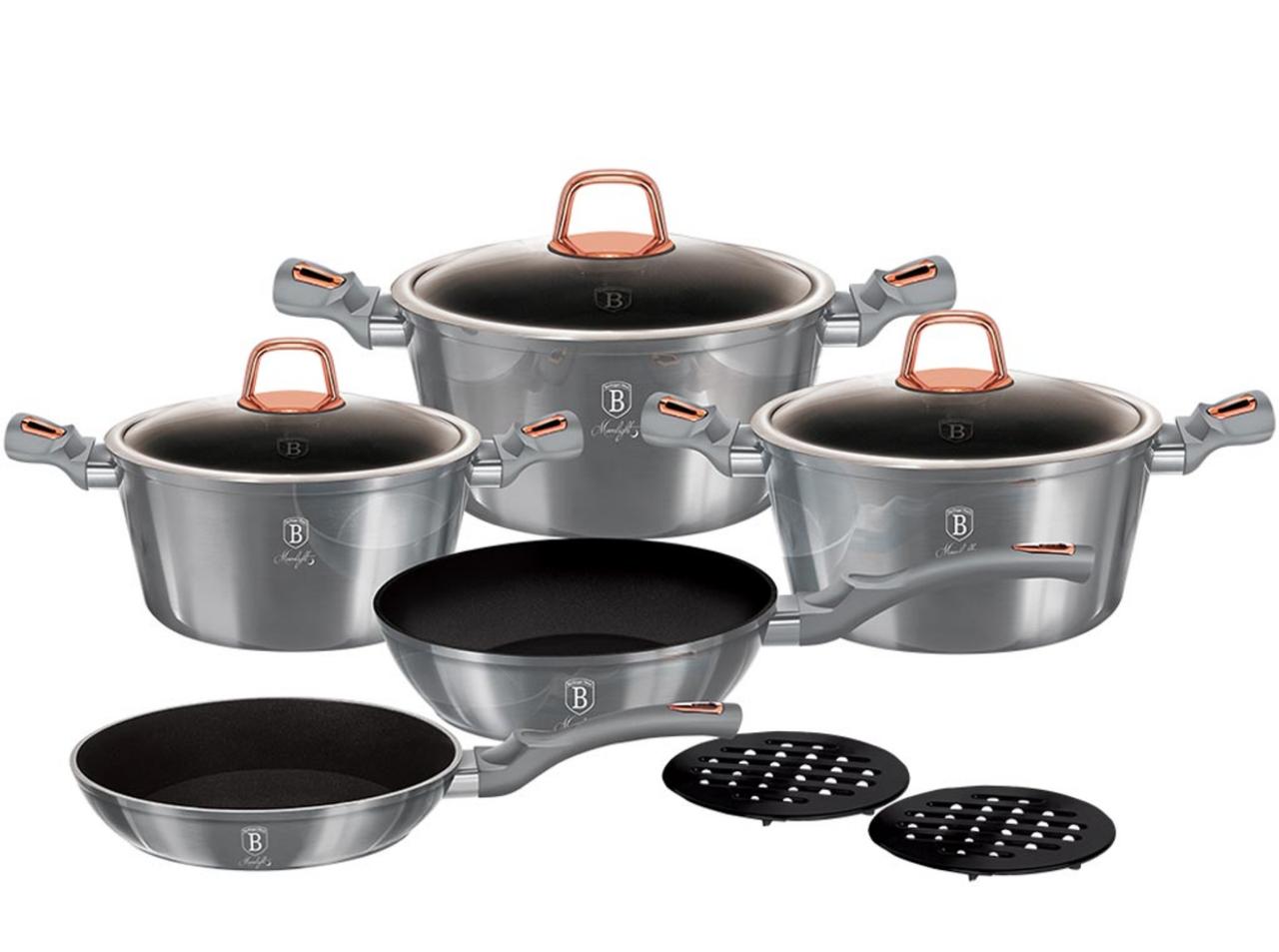Набор посуды 10 предметов Berlinger Haus Moonlight Edition (BH-6020)