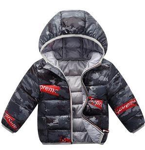 Куртка осенняя, Supereme, цвет серый