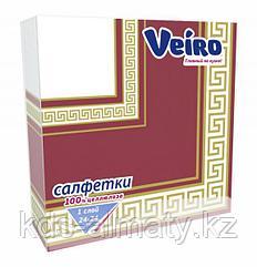 Салфетки сервировочные 33*33 Veiro Бордо 20 штук в пачке