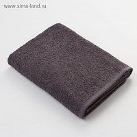 Полотенце махровое Экономь и Я 70х130 см, цв. серый, 320 г/м²